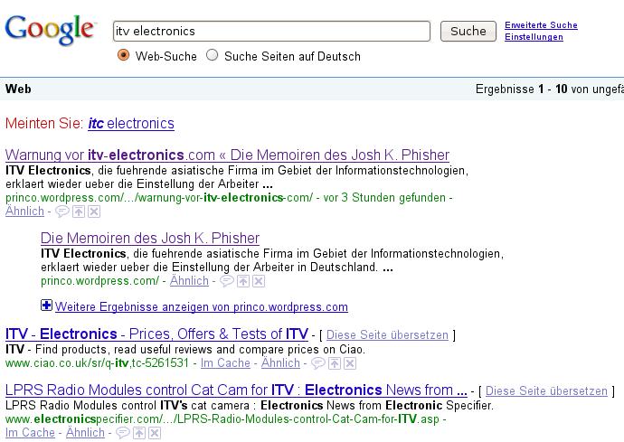 itv electronics - Google-Suche